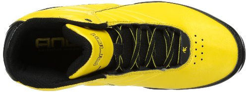 AND 1 Rocket 3.0 Mid Men's Basketball Shoe, Warrior Gold/ Warrior Gold/Black, 11 M US