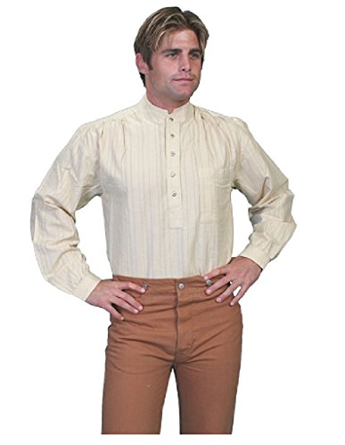 Scully Rangewear Men's Rangewear Natural Old Fashioned Railroader Shirt Natural Large from Scully