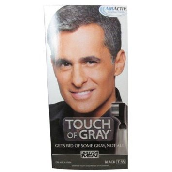 Just for Men Touch of Gray Hair Treatment, Black T-55 (Pack of 12)