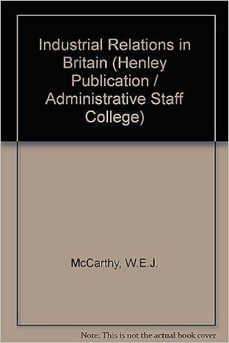 Foro de descarga de libros de GoogleIndustrial Relations in Britain (An Administrative Staff College publication) by W.E.J. McCarthy PDF ePub MOBI