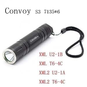 Convoy S3 7135*6 3/5Modes 2 Groups LED Flashlight 18650 --- Design:XML2 T6-4C (+£1.85)