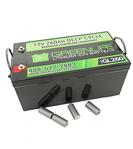 Lithium Ion Battery >> Amazon Com Greenlife Battery Gl260 260ah 12v Lithium Ion Battery