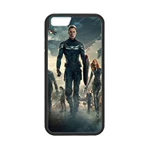 iPhone 6 4.7 Inch Cell Phone Case Black Captain America TCU Back Plastic Case
