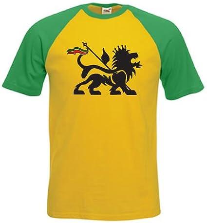 Diseño de león de judá T-Shirt Rasta Jamaica Reggae Bob Marley ...