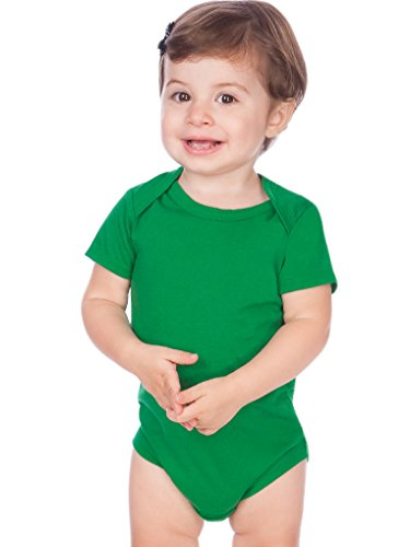 - Kavio! Unisex Infants Lap Shoulder Short Sleeve Onesie Jersey (Same IJC0431) Kelly Green 12M