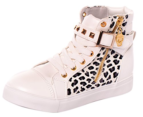 Serene Women's Casual Canvas Lace Up High Top Rivets Wedge Fashion Sneaker(6 - Www Online Purchase