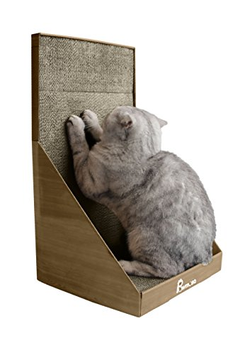 Pawmosa Cat Scratcher, Vertical Cardboard Cats Scratching Post, Lounge Bed as Furniture Protector and Home D