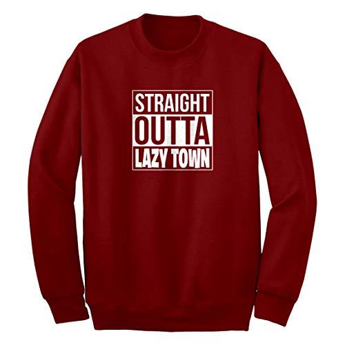 Indica Plateau Crew Straight Outta Lazy Town Medium Red Sweatshirt