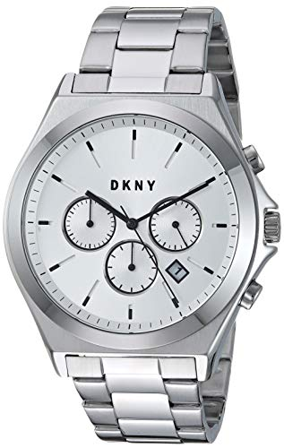 DKNY Men's Parsons Quartz Watch with Stainless-Steel Strap, Silver, 20.7 (Model: -