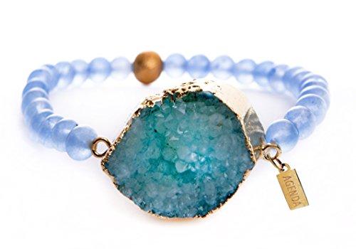 agenda-fashion-handmade-bracelet-made-of-natural-druzy-stone-and-aquamarine-beads
