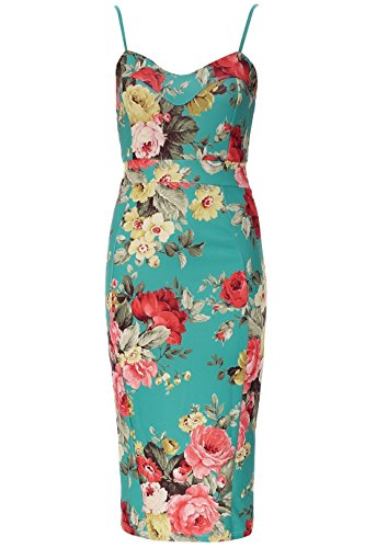 Moulante Serrure Floral Fast Amoureux Robe Femmes Fashion Vert Sans Imprim Floral Manches UY0Tq
