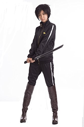 Yato Cosplay Costume (Noragami Yato cosplay costume Sports Suit Clothes + Pants + Scraf)
