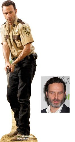 Fan Pack - Rick Grimes from The Walking Dead Lifesize Cardboard Cutout / Standee (Andrew Lincoln) - Includes 8x10 (20x25cm) Star Photo - Life Size Zombie Statue
