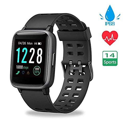 Funker S7 Morado Smartwatch, Reloj Impermeable IP68 Pulsera ...