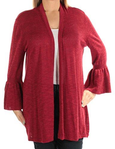 Alfani Womens Linen Open Front Cardigan Sweater Red - Red Sweater Alfani