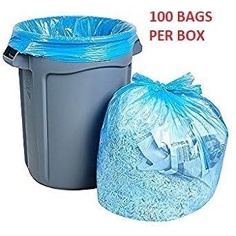 Amazon.com: Quality Supplies Direct Blue 37 x 60 bolsas de ...