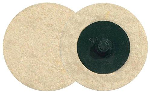 """Walter Twist Felt Disc, 2\"""" Diameter, 30000 Maximum RPM (Pack of 25)"""