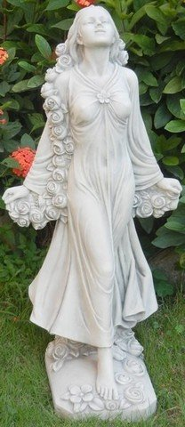 Hi-Line Gift 89968-48A Angel Standing with Flowers Statue by Hi-Line Gift