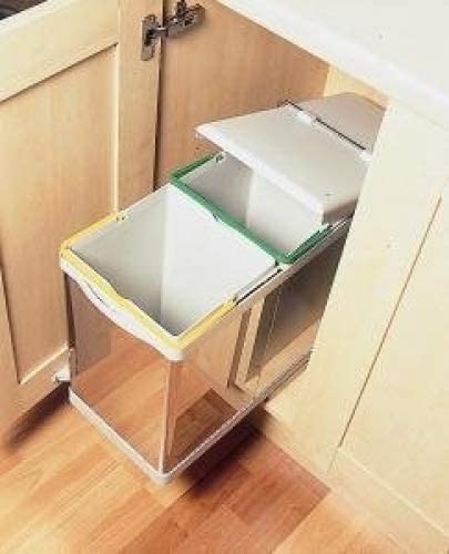 automatic pull out kitchen double bin 28 litres