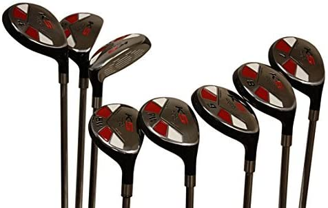 Senior Men s Majek Golf All Hybrid Complete Full Set, which Includes 3, 4, 5, 6, 7, 8, 9, PW Senior Flex Total of 8 Right Handed New Utility A Flex Clubs