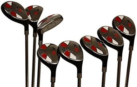 "Senior Men's Majek Golf All Hybrid Complete Full Set, which includes: #3, 4, 5, 6, 7, 8, 9, PW Senior Flex Total of 8 Right Handed New Utility ""A"" Flex Clubs"