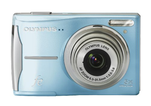 Olympus FE-46 12MP Digital Camera with 5x Optical Zoom and 2.7 inch LCD (Light Blue)