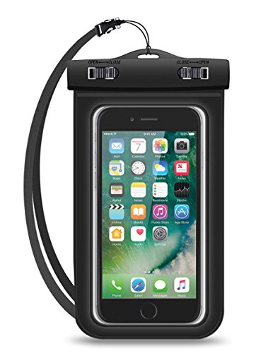 Universal Waterproof Case, CellPhone Dry Bag Pouch - for iphone X, 8 plus, 8, 7, 7 plus, 6S, 6, 6S Plus, 5S, SE, Samsung galaxy S7, 8 Plus, S6 Edge Note 5, 4, Google Pixel HTC LG Sony MOTO up to 6.0