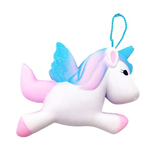 Lovely Stress Relief Toy Hosamtel Cream Scented Simulation Animal Toy Kid Gift (Blue Unicorn)