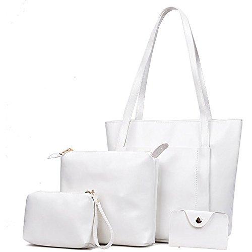 Multifunción Bolso Moda Bolso Simple Viaje Bolsas Crossbody White Hombro De Commuter Señora Retro De Bolsas x08ndIqX