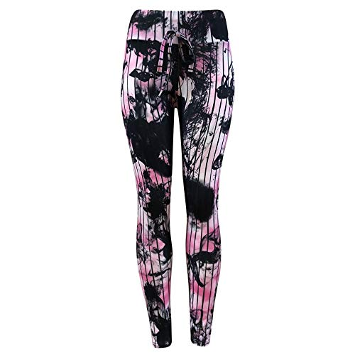 URIBAKE ❤ Women's Leggings Workout Tights Fitness Sports Gym Running Yoga Athletic Pants(Pink,L) ()