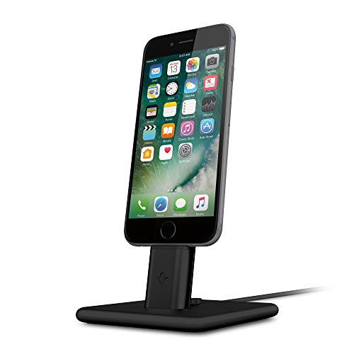Twelve South HiRise 2 Deluxe for iPhone/iPad, black | Adjustable charging stand with Lightning + Micro-USB cables Curve Usb Cradle