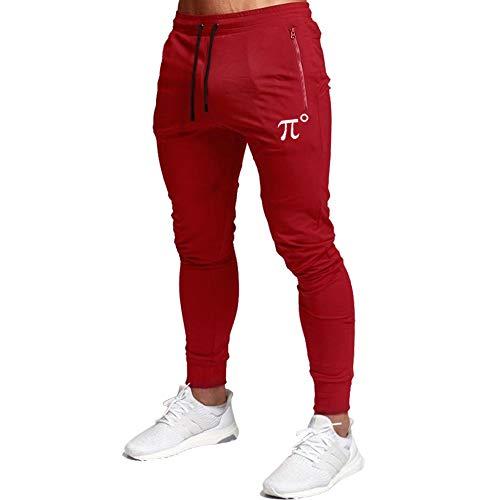 Wangdo Men's Joggers Sweatpants Gym Training Workout Pants Slim Fit with Zipper Pockets