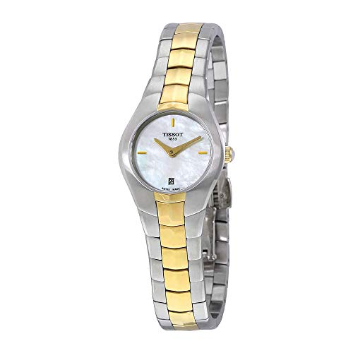 - Tissot T0960092211100 T-Round Ladies Watch - White Mother Of Pearl Dial