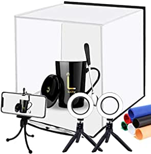Commercial Product Image Shoot Photo Studio Watch Folded Flat JSAG176V2 USB Power Cable Suitable for Small Items such as Jewelry Julius Studio LED Light Portable Mini Photo Shooting Tent Box