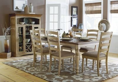 Homelegance Nash Dining Table with Solid Wood Top and Butterfly Leaf ()