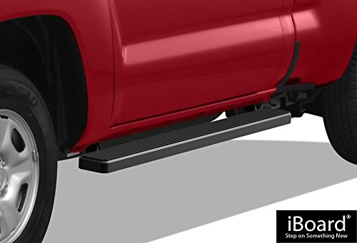 APS iBoard Running Boards (Nerf Bars | Side Steps | Step Bars) for 2005-2019 Toyota Tacoma Standard Cab Pickup 2-Door | (Black Powder Coated 5 inches) ()