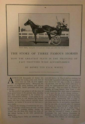 - 1910 Famous Race Horses Native Belle The Harvester Miss Stokes illustrated