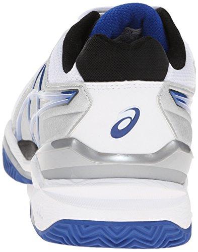 Zapato de tenis de arcilla Clay-Resolution 6 Clay Court, Blanco / Azul / Plateado, 15 M US