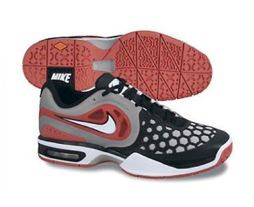 hot sale online e0b12 3136a Nike Men s Air Max Courtballistec 4.3 487986 010 Red Grey Black Tennis Shoe  (Mens 11.5
