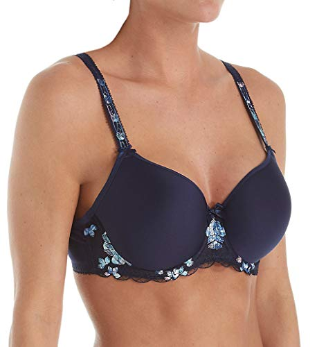 (Fantasie Women's Nadine Seamless Spacer Full Cup Underwire Bra Bra, Navy, 32DD)