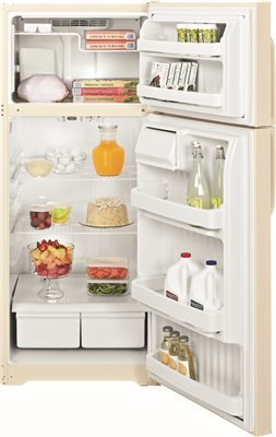 Bisque Top Freezer Refrigerator - GE GTE18CTHCC 17.5 Cu. Ft. Bisque Top Freezer Refrigerator - Energy Star