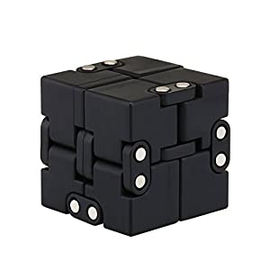 SamHity-Fidget Cube in Style With Infinity Cube Pressure Reduction Toy - Infinity Turn Spin Cube Edc Fidgeting - Killing Time Toys Infinite Cube For ADD, ADHD, Anxiety, and Autism Adult and Children