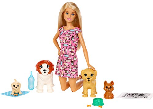 Barbie Doggy Daycare Doll & Pets, Blonde (Complete Round Pool Package)
