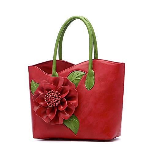 Bag Handcuffed Flower Red Handmade Women's tH6qzwfnR6
