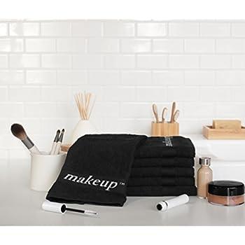 Amazon Com Black Make Up Washcloths 6 Piece Set Home