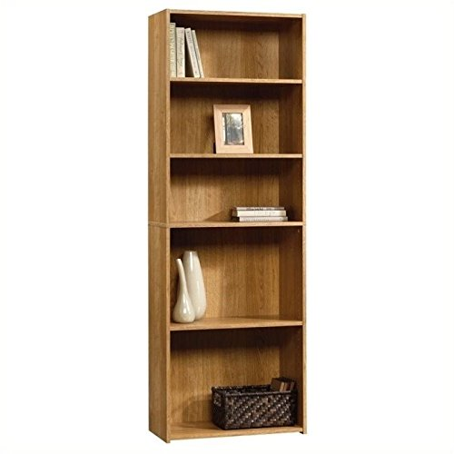 042666111409 - Sauder Beginnings 5-Shelf Bookcase, Highland Oak Finish carousel main 1
