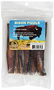 great dog bison pizzle bully sticks 5 6 pieces sourced made in usa pet. Black Bedroom Furniture Sets. Home Design Ideas