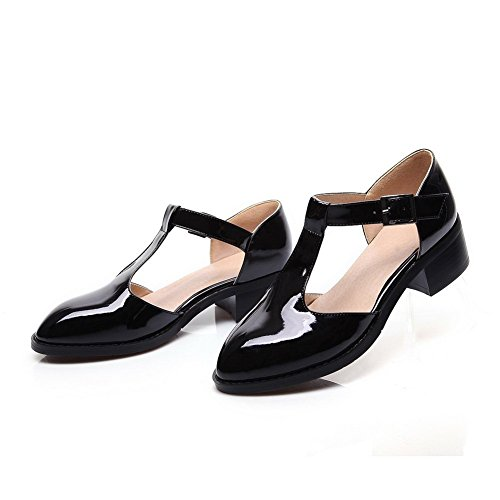 Adee Ladies pointed-toe low-heels Poliuretano bombas zapatos negro