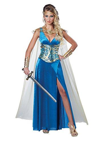 California Costumes Women's Warrior Queen Costume, Blue/Gold Small