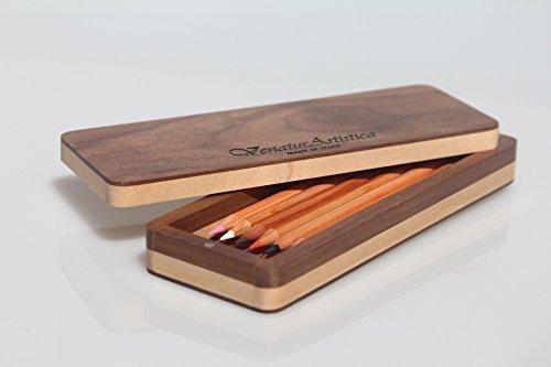 Porta matite di legno - Porta penne di legno - Astuccio di legno ...
